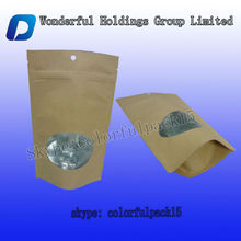 High quality 50g small paper seed pouch/stand up plant seed packing