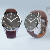 Leather Band Multifunctional Smart Watch Support Camera and GPS