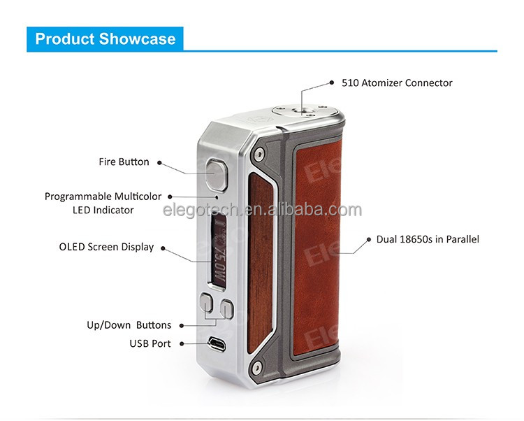 Hottest Lost Vape Therion DNA75 Mod 100% Original Evolv DNA Chip Therion DNA 75