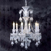 Baccarat Style 6 Light Crystal Chandelier lighting of Designers' Choice for Interior Decoration