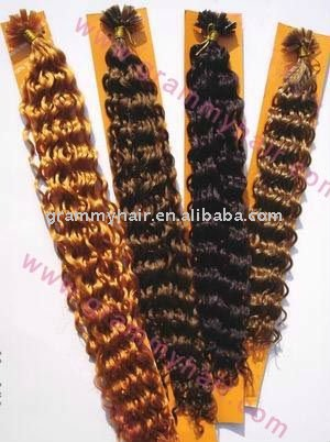 European nail bonding human hair extensions