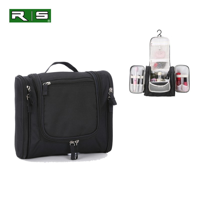 ROBBIE Wholesale Expandable <strong>Travel</strong> Extra Large Hanging Toiletry Cosmetic Bag for Men Teens