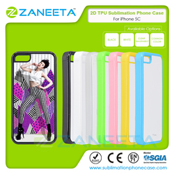Wholesale TPU 2D Printable Phone Cases Sublimation Blank Cell Phone Cover For iPhone 5C