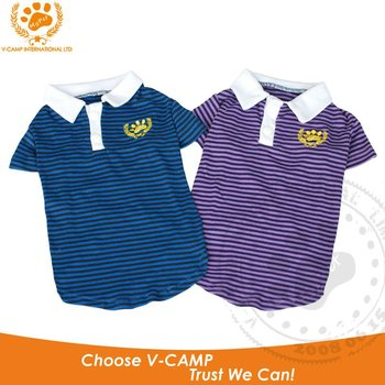 My Pet Polo Style stripe pattern outdoor t-shirt dog clothes