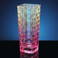 high quality Trumpet Shaped embossed/engraving feature Crystal Vase Flower Vases