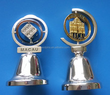 Macau Diamond Dice Rotatable Charms Stainless Steel Jingle Bell