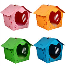 Lovely Plastic Small Dog House Summer Pet Kennel