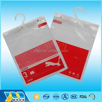 New products waterproof small pouch with hook packaging plastic bags