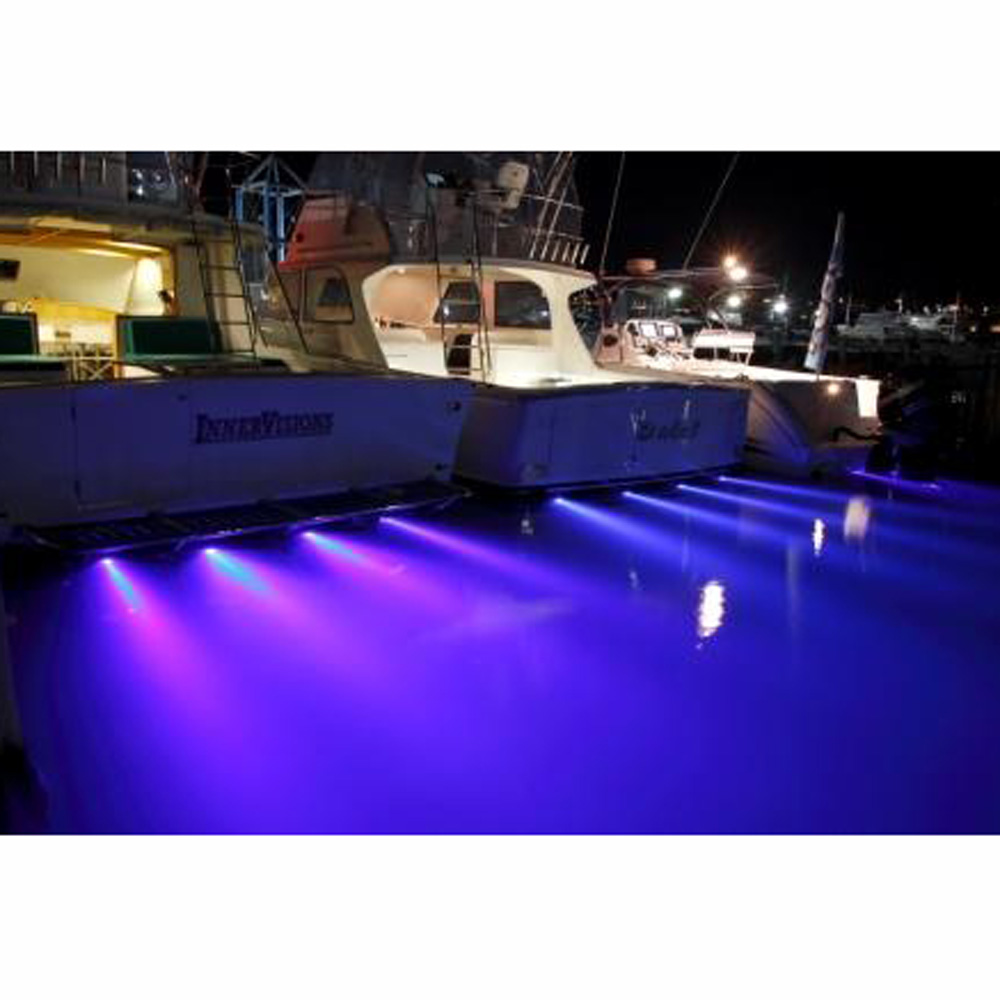 DC8-28V 27W Underwater IP68 Waterproof rate LED Marine Light with Remote Control RGB/Blue Boat Drain Plug Light for Docks ponds