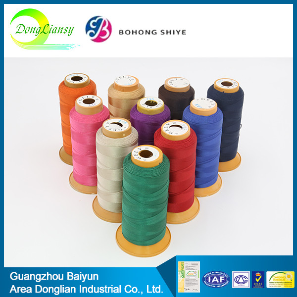 wholesale sequin marathon leather color rayon polyester / cotton thread