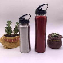 promotional premium quality BPA Free Stainless Steel single wall 500ML Water Bottle with large Mouth