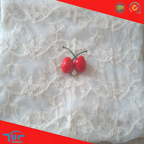 Fancy Star 100 Cotton Embroidered Tablecloth Gauze Fabric