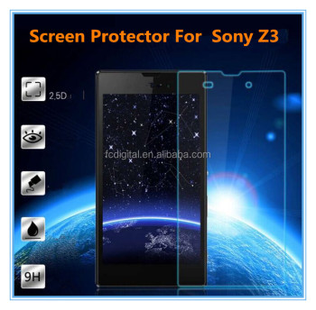 9H premium tempered glass screen protector for sony z3 factory price for sale