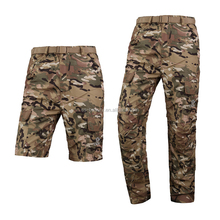 CP Camo Pants Men's Quick Drying Two-Sections Detachable Pants Breathable Travel Hiking Climbing Trousers