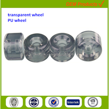 luggage parts bag wheels solid plastic customized transparent pu
