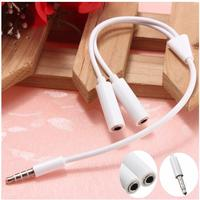 Hot sale 3.5 mm Earphone Headset Headphone MP3 MP4 Audio Stereo Plug Y Splitter Cable Adapter Jack 1 Male to 2 Dual Female