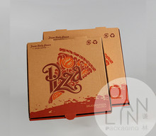 Take Out Corrugated Pizza Box With Customized Printing