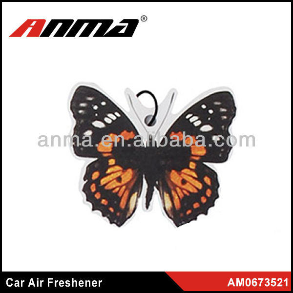 Nice butterfly beautiful shape flower paper car air freshener/car air freshener fruit