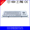 Brushed mini industrial metal PC keyboard with trackball
