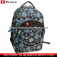600D back bag for men,full printing school backpack