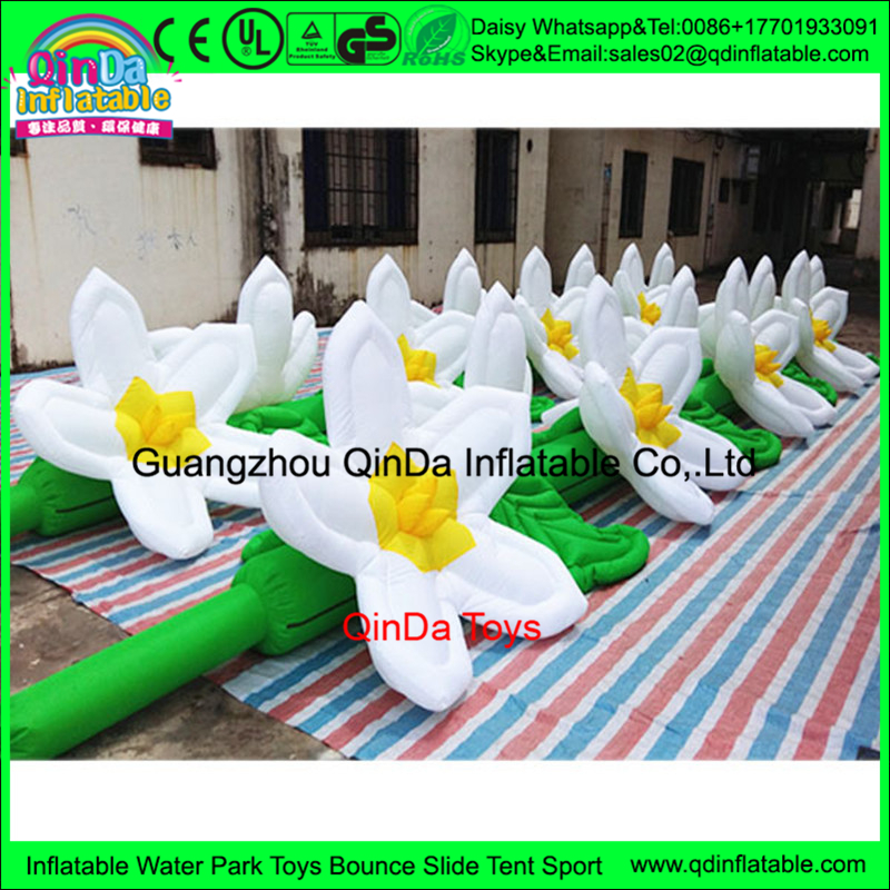 Wholesale 7 meter inflatable flower arch/decoration artificial marigold garland flower from china