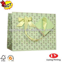decorative gift Shopping Paper Bag with ribbon handle
