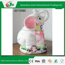 Ceramic storage box elephone decoration