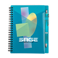 PP cover Sprial Notebook With Pen For Students