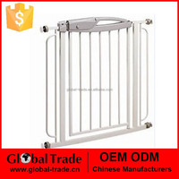 White Sturdy Easy Step Walk Thru Gate White Kids Fence Animal Dog Free Gate H0237