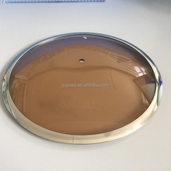 Golden Dark Brown Tempered Glass Lid for cookware