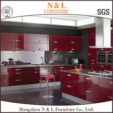 Hots sales lacquer painting popular kitchen cabinet design sample