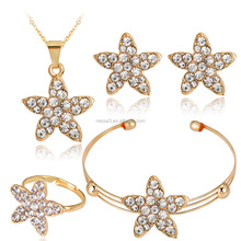 Fashion Star Italian Gold Plated Jewelry Sets Wholesale NSDR-0050