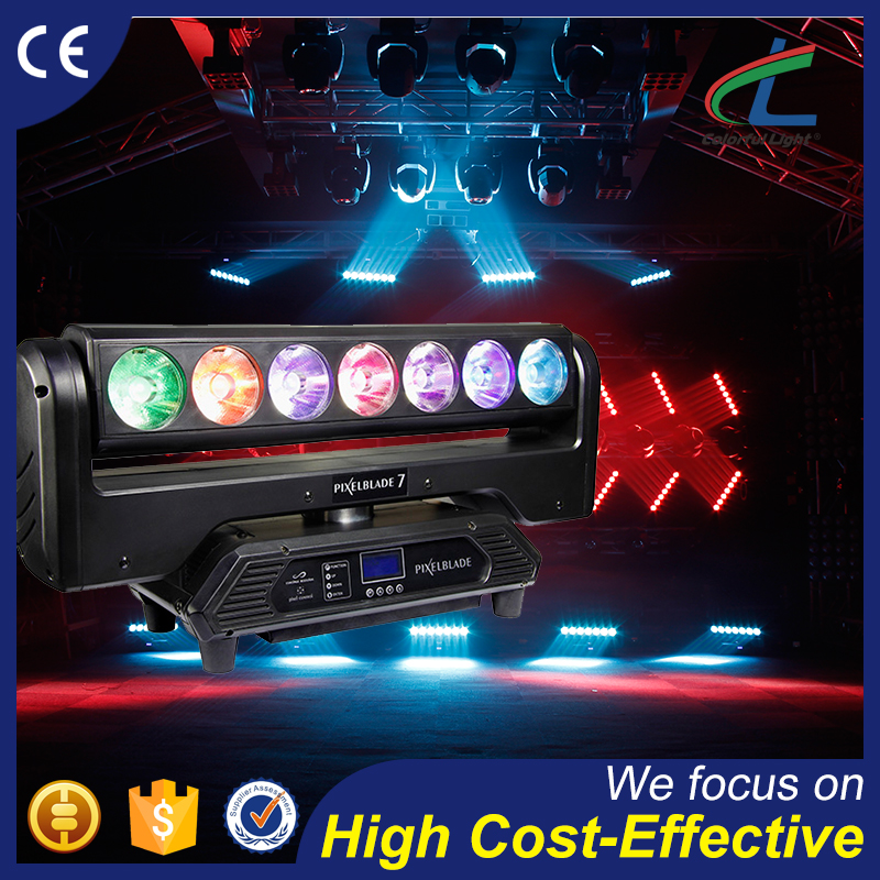 7x15W RGBW 4in1 Professinal Stage Light Moving Head LED Beam Light