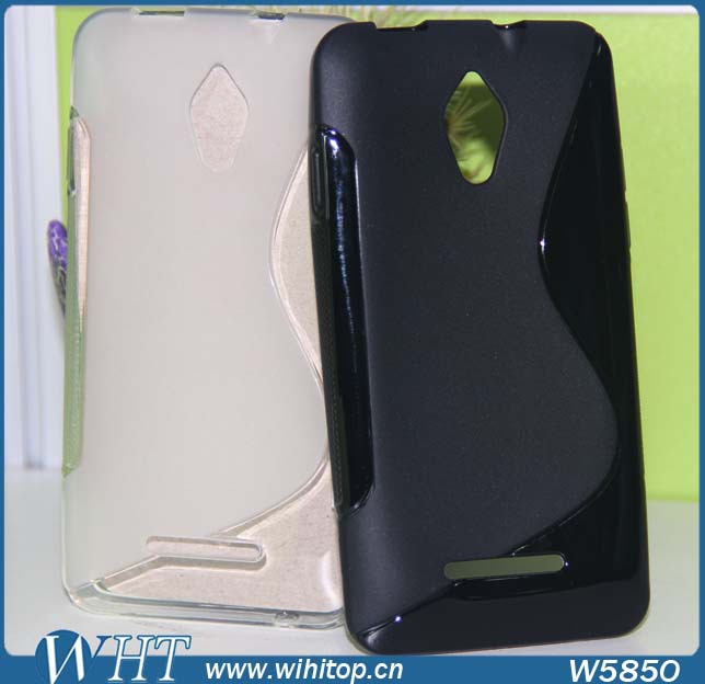 Tranparent Clear Back Cover for Vodafone Smart 4 Turbo, Soft S Line TPU Case for Vodafone Smart 4 Turbo