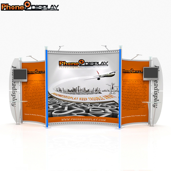 china wholesale tension fabric aluminium portable exhibition booth