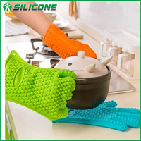 Alibaba China supplier wholesale yellow kitchen gloves/finger protector silicone glove