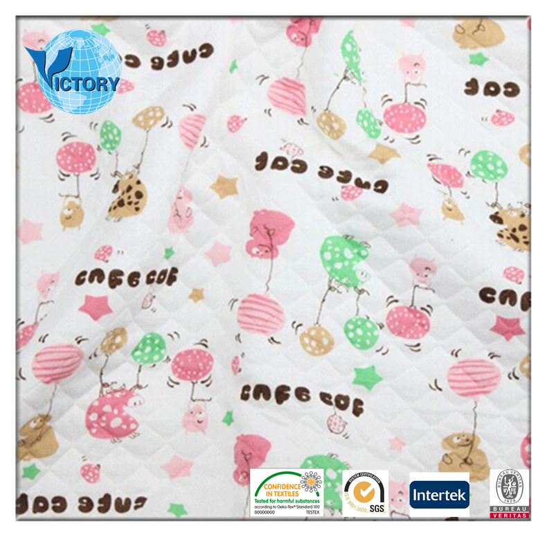 Japanese Cotton /Polyester Custom Printed Air Layer Fabric
