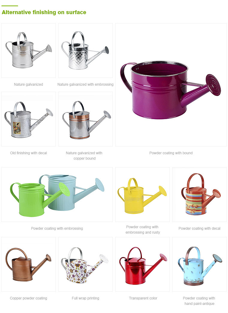 Bright color different size metal galvanized watering cans wholesale