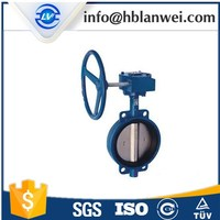 Ductile iron single wafer type manual butterfly valve D371X-16