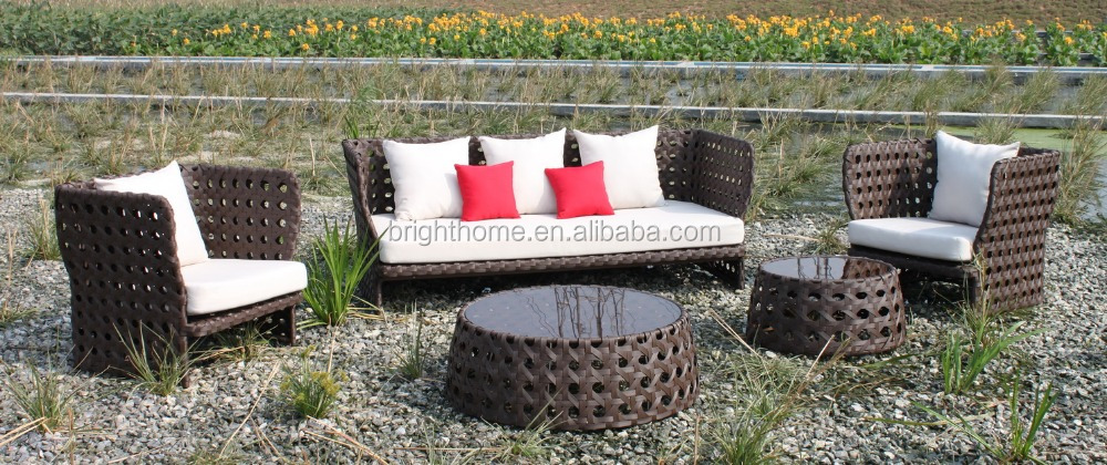 Modern european style outdoor patio rattan sofa furniture for Outdoor furniture europe