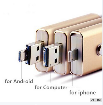 Wholesale Price high Quality Large Quantity Factory Usb Flash Drive 3 in 1 with real capacity