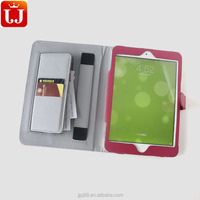 Protective Portable leather cover for ipad mini2 with credit card slots