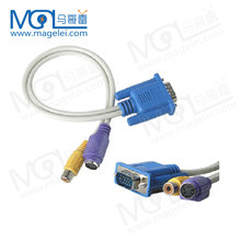 VGA to S-Video1 RCA AV Coaxial Composite Adapter Converter Cable PC TV