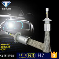 2016 tinsin new product ! 12v 24v 40W led light bulb car accessories h7 led headlight bulb with CR.EE XHP-50