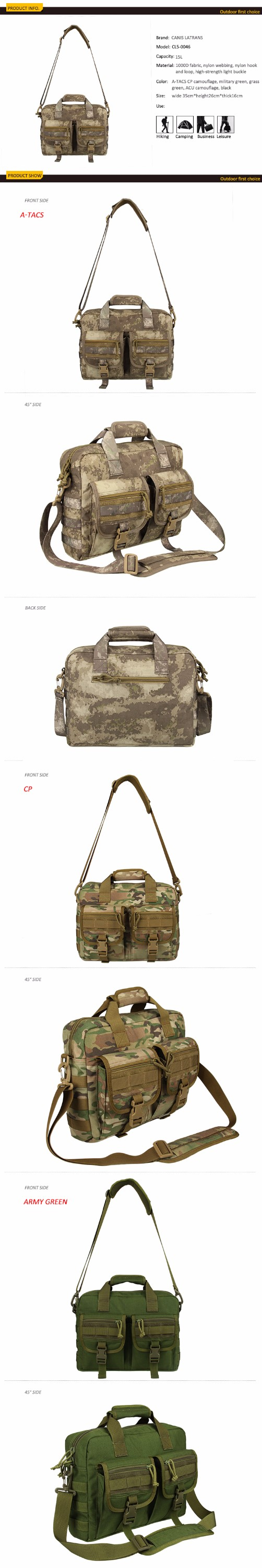 2016 Hot Selling Tactical Military Pattern Backpack