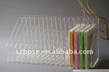 Perspex CD Rack,Acrylic CD Display,Lucite Disk Holder