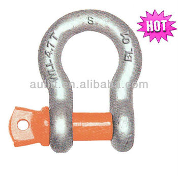Austrialia type Grade S bow Shackle with screw pin