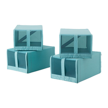Underbed non-woven foldable Shoe Storage organizer Box With PVC Window