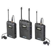 Top sale BOYA BY-WM8 UHF Dual Wireless Lavalier Microphone Systerm Lav Interview Mic 2 Transmitters & 1 Receiver for DSLR Camera