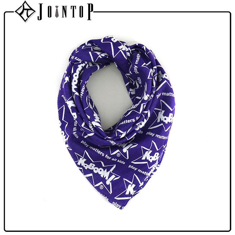 Purchase high custom manufacture blue polyester and triangle scarf wholesale cotton